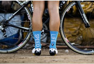 Pacific and Co. Speed/Slow Life Socken - blau