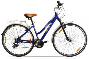 Vitoria City Bike 7V Stahl - blau